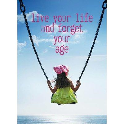 Postkaart Live your life