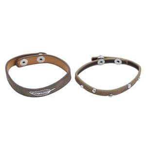 Setje van 2 armbandjes met een veer