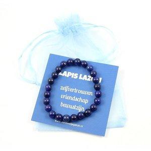 Lapis Lazuli powerbead armband - zelfvertrouwen, vriendschap, bewustzijn