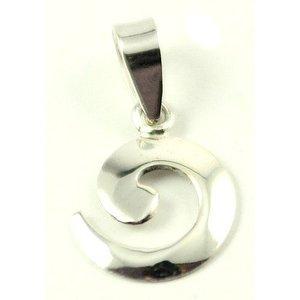 Zilveren hanger Cirkel