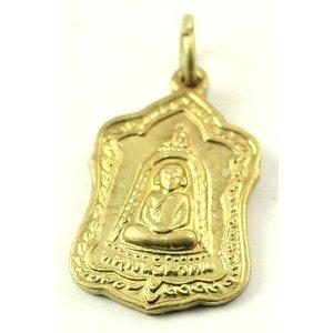 Boeddha amuletje goudkleurig