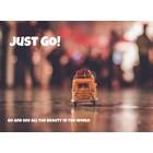 Just go! - kaart voor een reiziger
