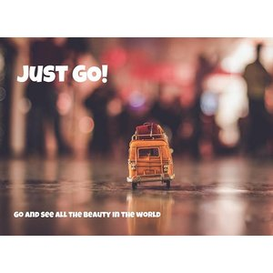 Kaart Just Go! Go and see all the beauty in the world | eenbeetjegeluk.nl