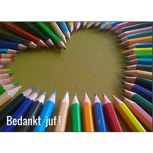 Kaart bedankt juf | eenbeetjegeluk.nl
