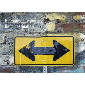 Kaart Happiness is a journey | eenbeetjegeluk.nl