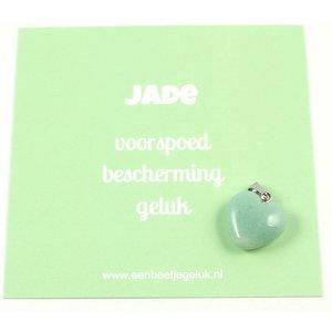 Jade hangertje hartje 1,5 cm
