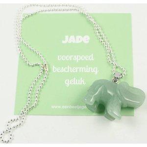 Olifant hangertje van jade