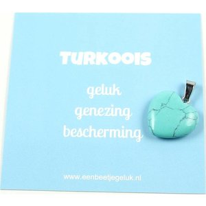 Turkoois hartje | eenbeetjegeluk.nl