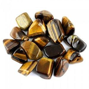 Tijgeroog - 100 gram trommelstenen in een zakje