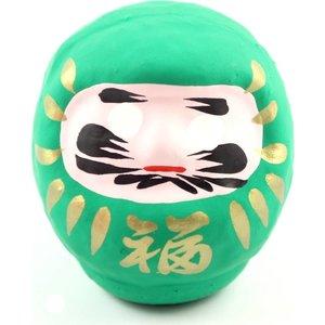 Groen daruma 7 cm