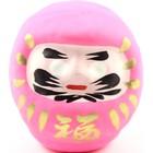Roze daruma - Japanse wenspop 9 cm