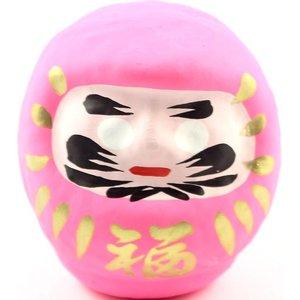 Roze Daruma - Japanse wenspop 9 cm | eenbeetjegeluk.nl
