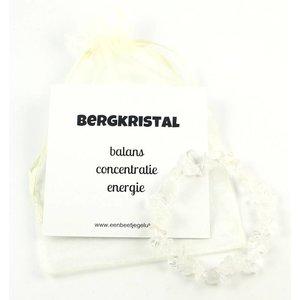 Splitarmband bergkristal