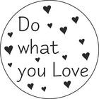 Sticker Do what you love 10 stuks