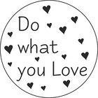 Sticker Do what you love 5 stuks