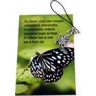 De vlinder - kaartje met hangertje