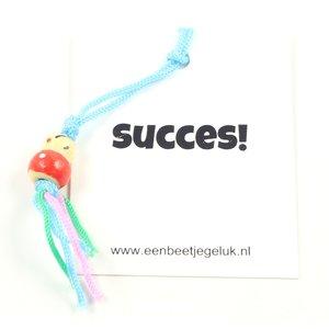 Kaartje succes met gelukspoppetje