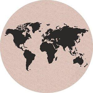 Wereldbol sticker | eenbeetjegeluk.nl