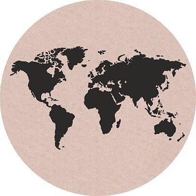 Wereldbol sticker