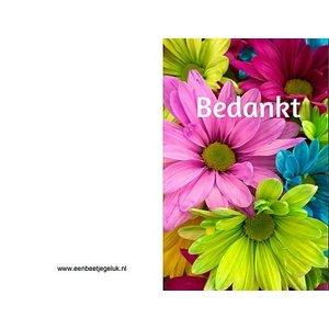 Bloemkaartje 'Bedankt' | eenbeetjegeluk.nl