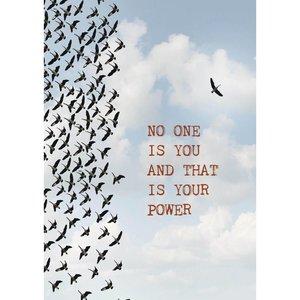 Kaart met spreuk No one is you | eenbeetjegeluk.nl