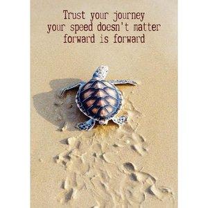 Magneet Trust your journey   eenbeetjegeluk.nl
