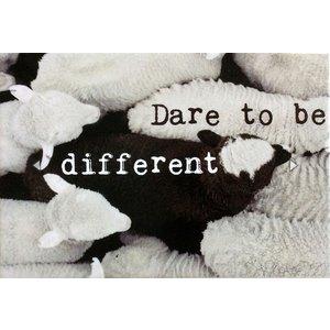Magneet Dare to be different | eenbeetjegeluk.nl