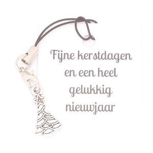 Gelukskaartje Fijne kerstdagen met kerstboom | eenbeetjegeluk.nl