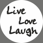 Witte sticker live laugh love (5 stuks)