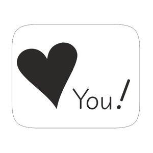 Sticker Love you | eenbeetjegeluk.nl