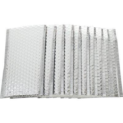 Metallic zilveren envelop 25 x 15 cm