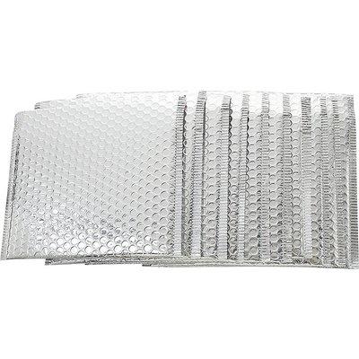 Zilverkleurige envelop 25 x 25 cm