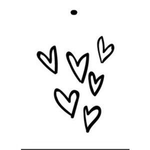 Kaartje met hartjes | eenbeetjegeluk.nl