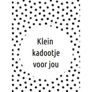 Kaartje 'klein kadootje voor jou' | eenbeetjegeluk.nl