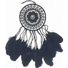 Zwarte dromenvanger met zwarte veren