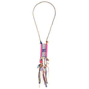 Ibiza ketting met kleurrijke hanger | eenbeetjegeluk.nl