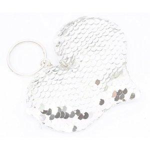 Sleutelhanger zilveren hart | eenbeetjegeluk.nl