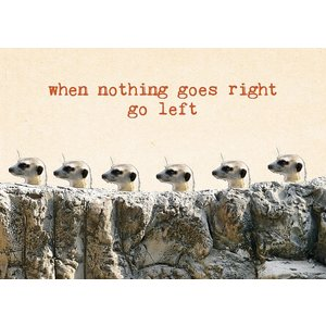 Ansichtkaart 'when nothing goes right'