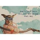 Postkaart 'Dont look back'