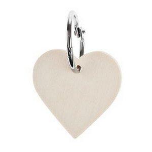 Houten hart sleutelhanger