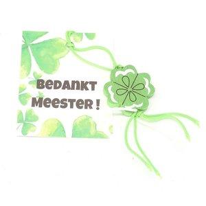 eenbeetjegeluk.nl Bedankt meester met klavertje | eenbeetjegeluk.nl
