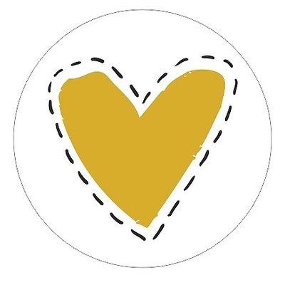 Sticker Gouden Hart