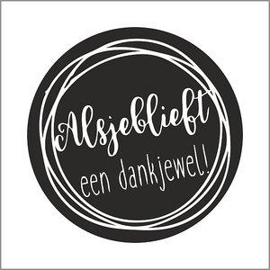 Sticker Alsjeblieft een dankjewel | eenbeetjegeluk.nl