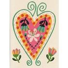 Kaart met een gekleurd hart