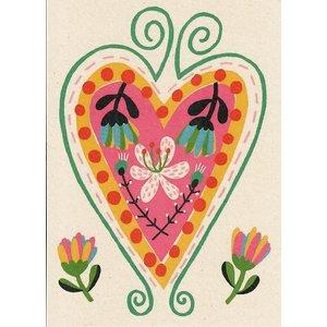 Kaart met een gekleurd hart | eenbeetjegeluk.nl
