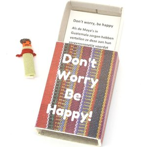 Doosje don't worry be happy met worry doll | eenbeetjegeluk.nl