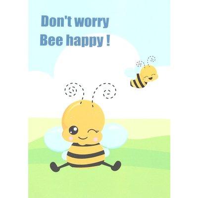Kaart 'Don't worry Bee Happy'