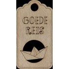 Goede reis - houten label