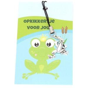 Kaartje opkikkertje met bedel kikker | eenbeetjegeluk.nl
