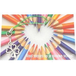 Kaartje veel succes op je nieuwe school | eenbeetjegeluk.nl